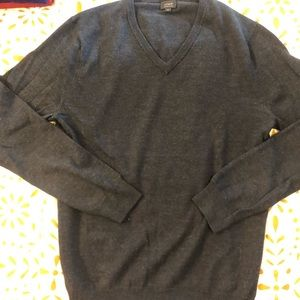 J. Crew Sweaters - JCrew Slim Merino V-neck Sweater - M - Charcoal